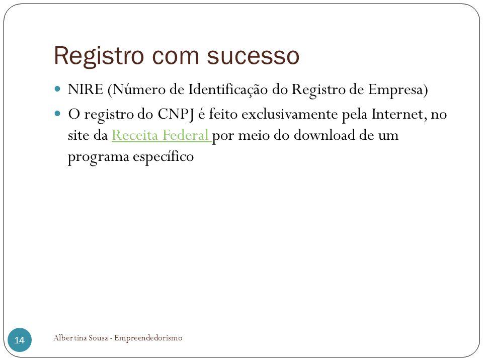 Registro com sucesso NIRE (Número de Identificação do Registro de Empresa)
