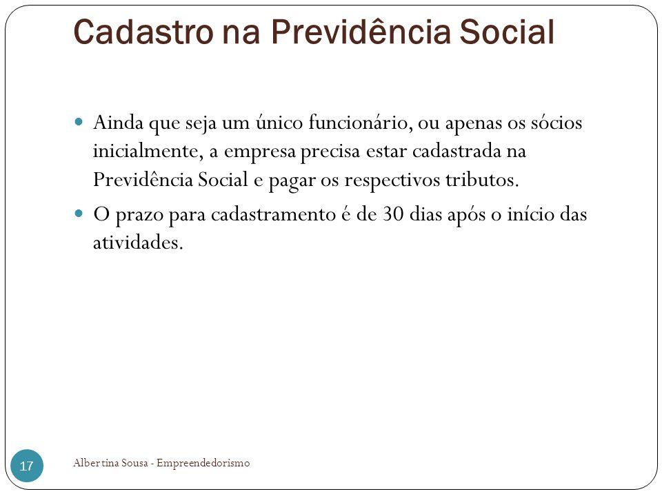 Cadastro na Previdência Social