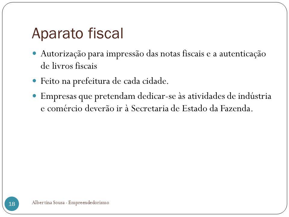 Aparato fiscal Autorização para impressão das notas fiscais e a autenticação de livros fiscais. Feito na prefeitura de cada cidade.