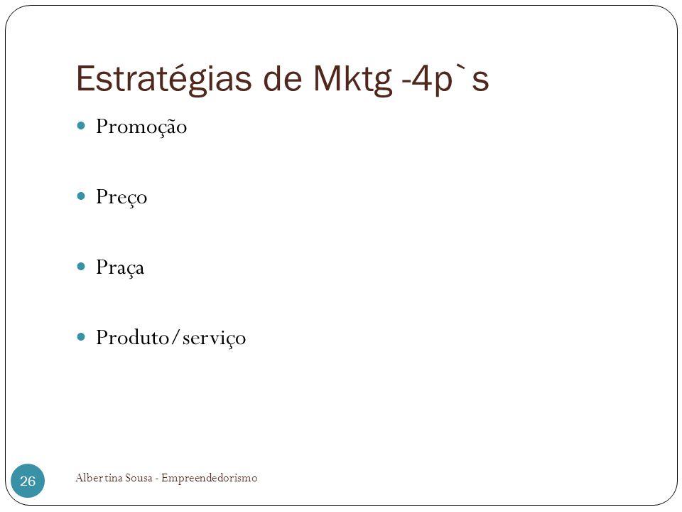 Estratégias de Mktg -4p`s
