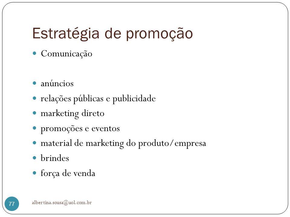 Estratégia de promoção