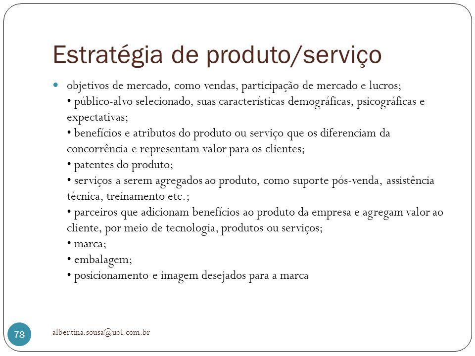 Estratégia de produto/serviço