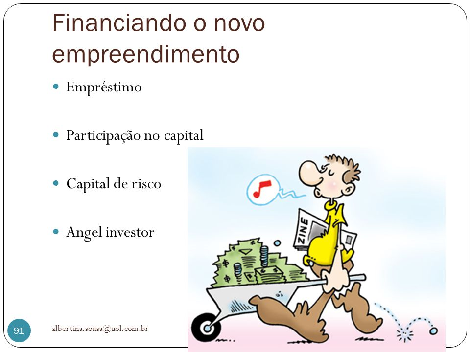 Financiando o novo empreendimento