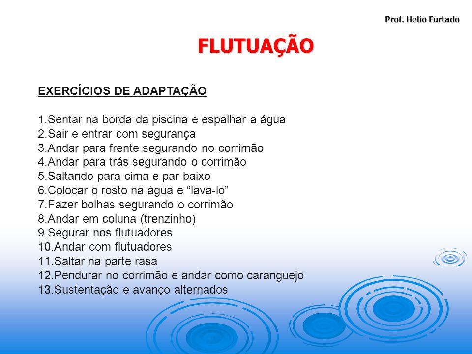 FLUTUAÇÃO EXERCÍCIOS DE ADAPTAÇÃO