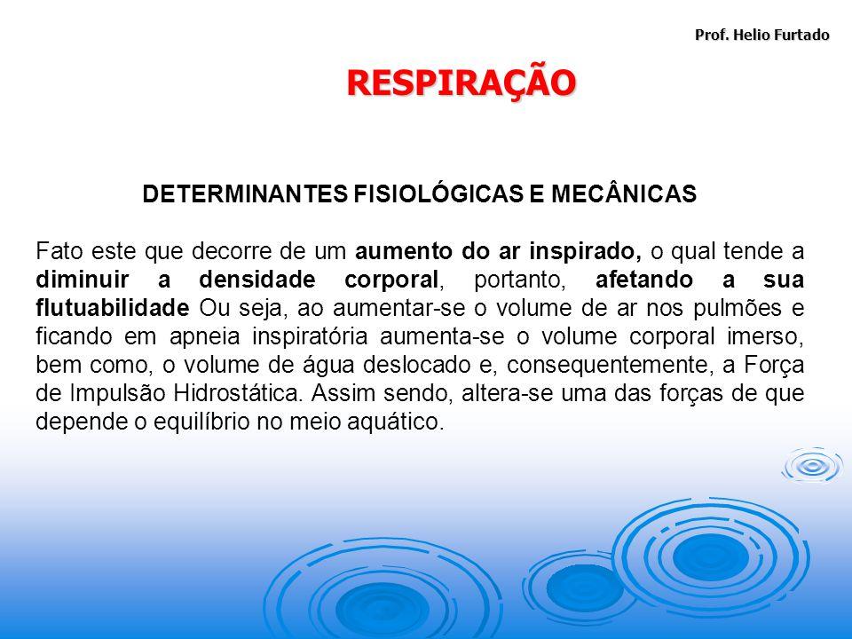 DETERMINANTES FISIOLÓGICAS E MECÂNICAS