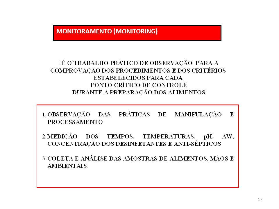 MONITORAMENTO (MONITORING)