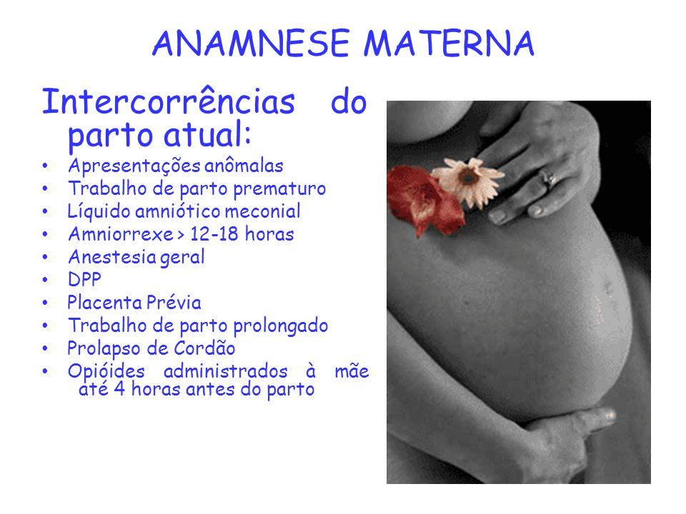 Intercorrências do parto atual: