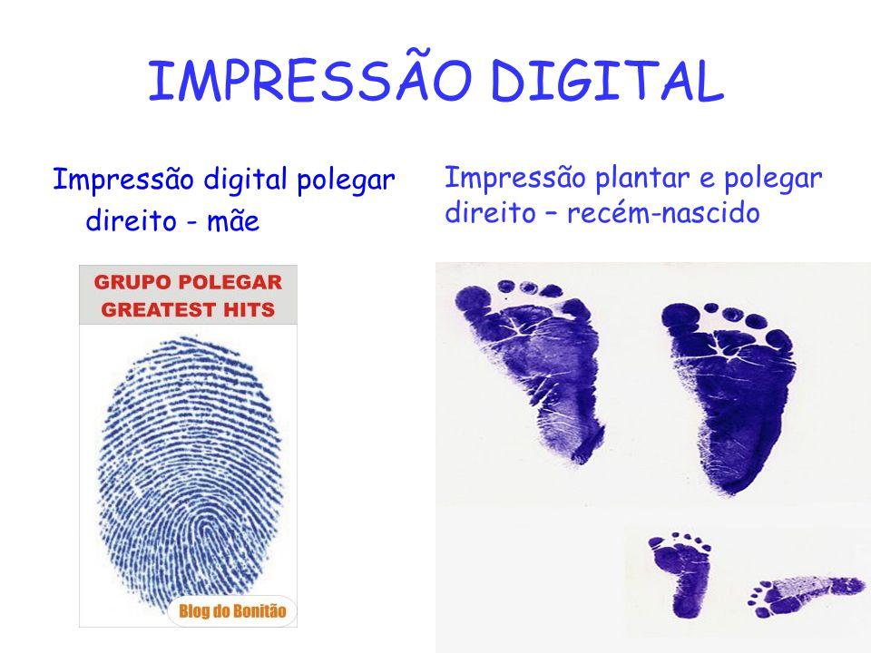 IMPRESSÃO DIGITAL Impressão digital polegar direito - mãe