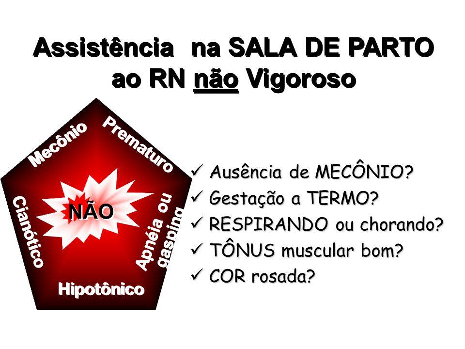 Assistência na SALA DE PARTO ao RN não Vigoroso