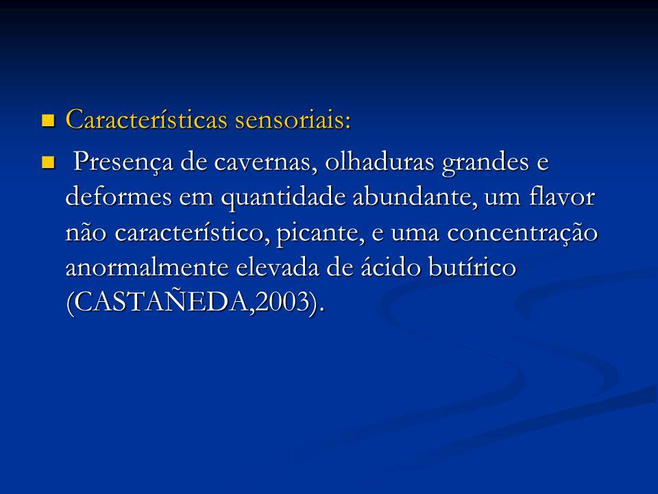 Características sensoriais: