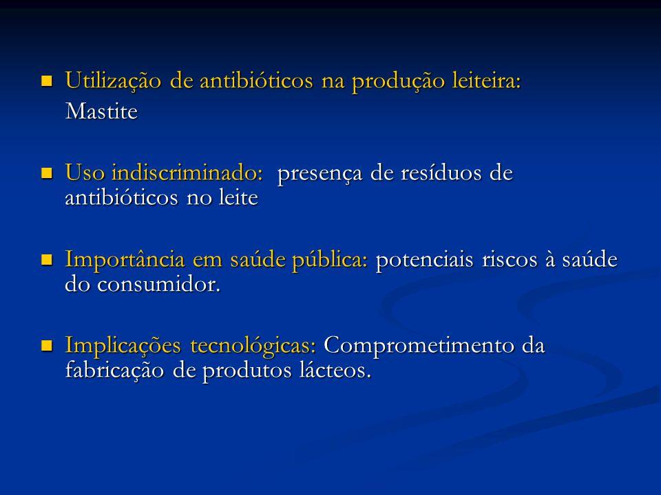 Utilização de antibióticos na produção leiteira: