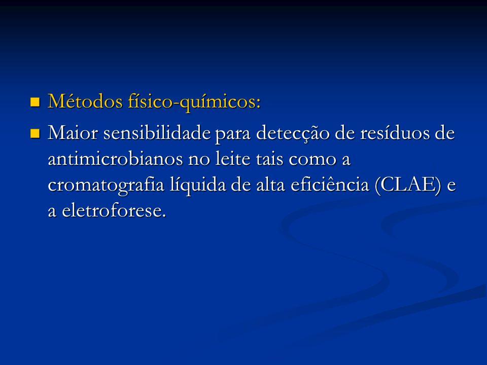 Métodos físico-químicos: