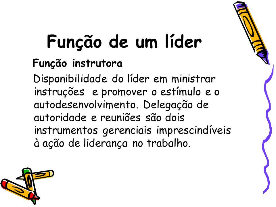 Função de um líder Função instrutora