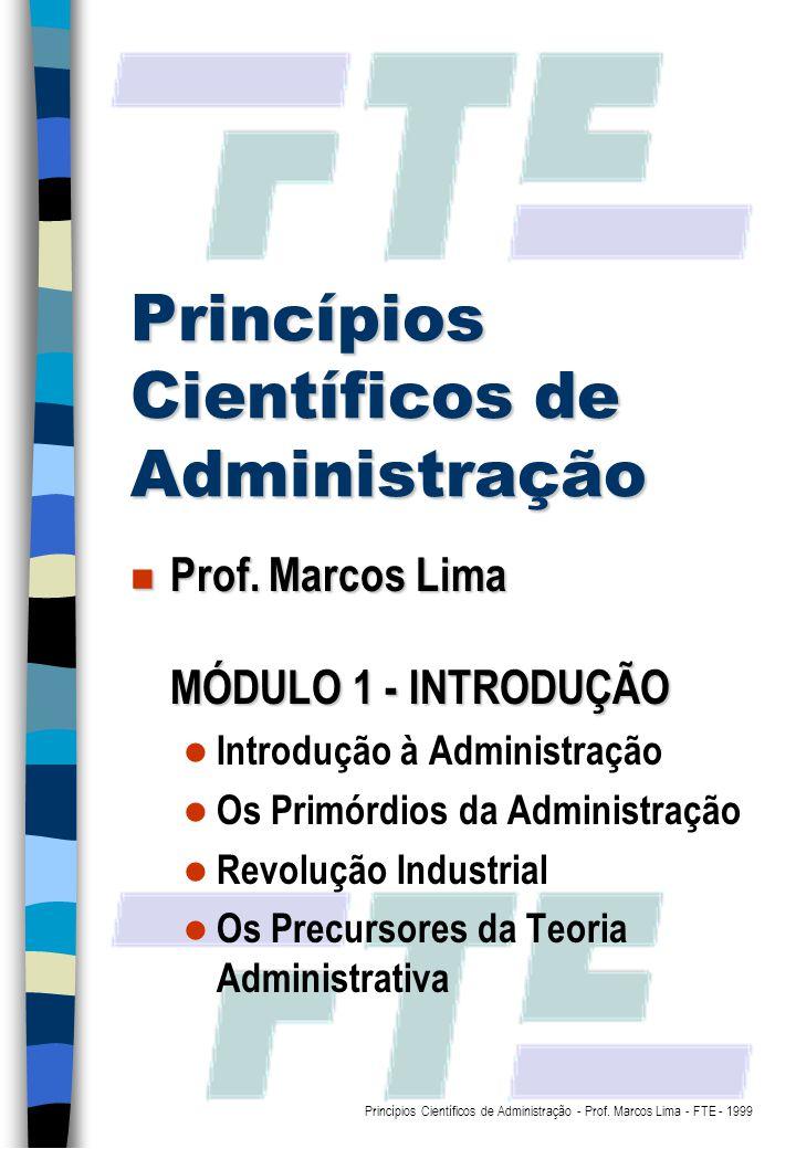 Princípios Científicos de Administração