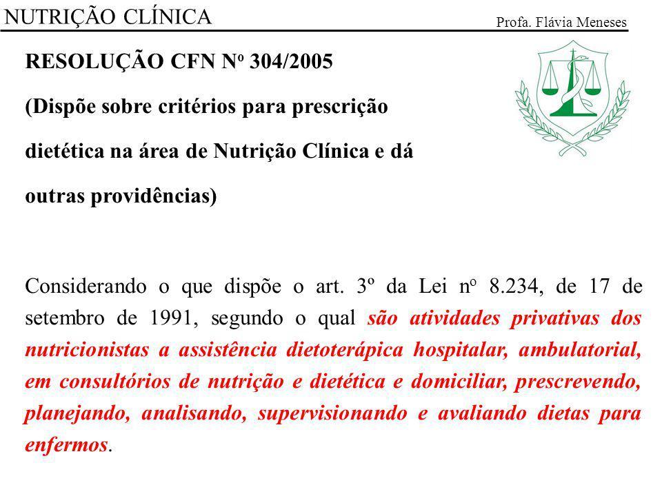 (Dispõe sobre critérios para prescrição