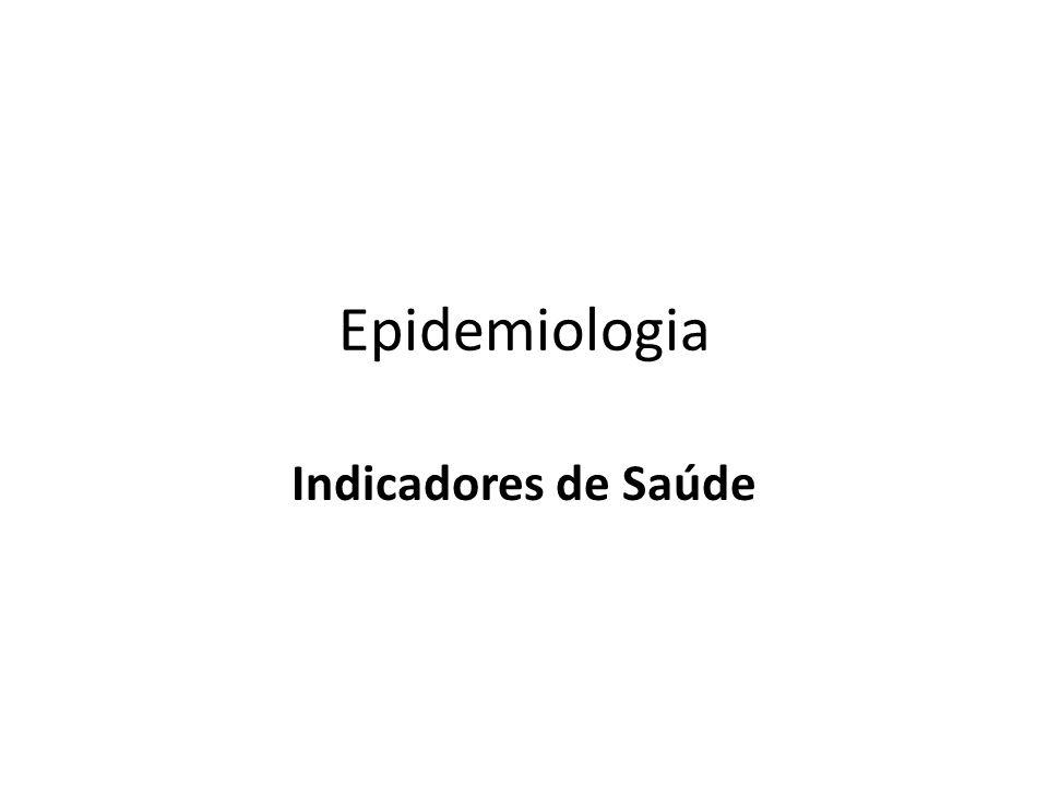 Epidemiologia Indicadores de Saúde