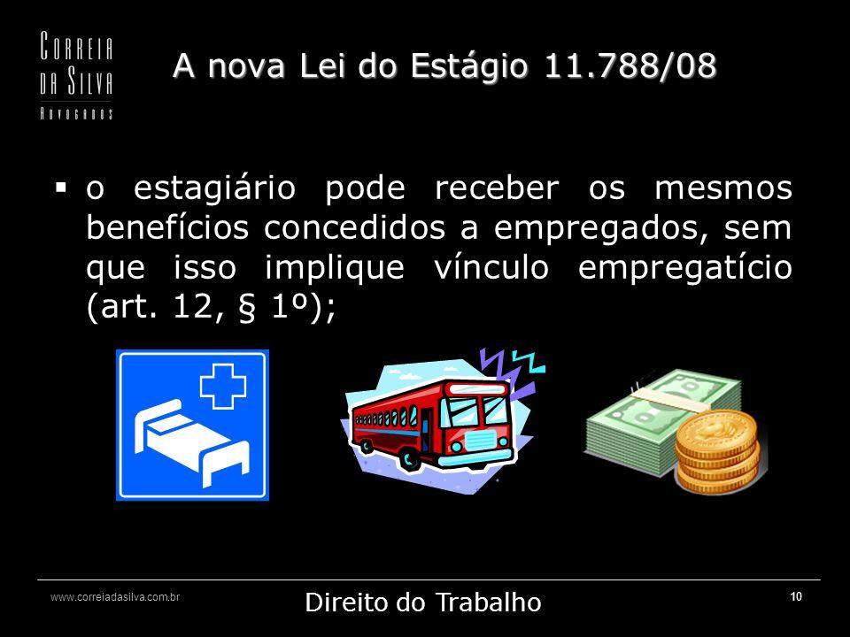 A nova Lei do Estágio 11.788/08
