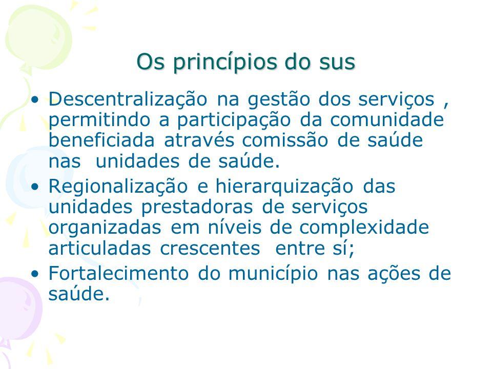 Os princípios do sus