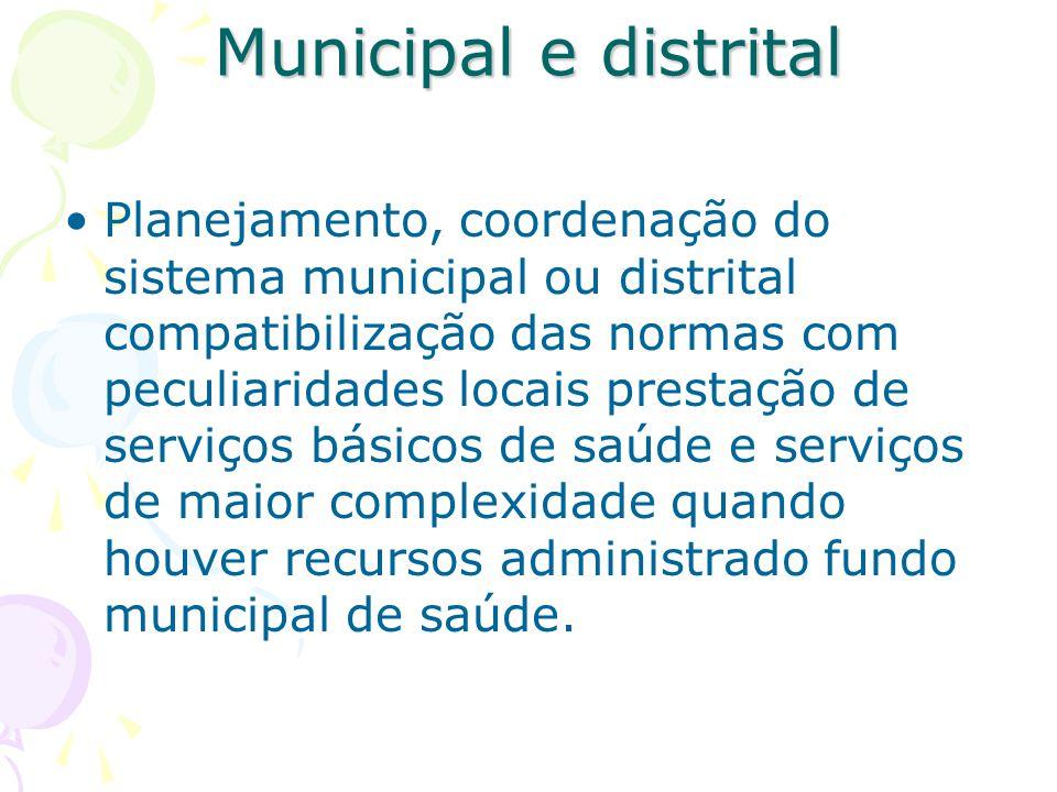 Municipal e distrital