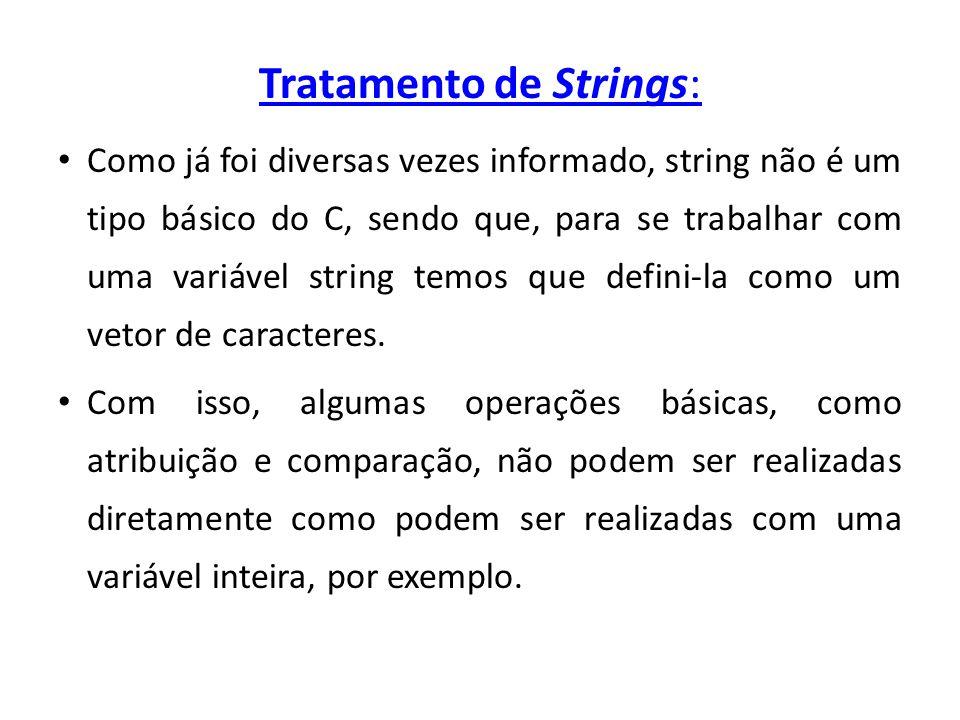 Tratamento de Strings: