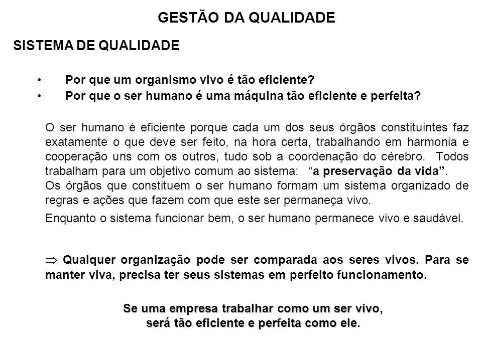 GESTÃO DA QUALIDADE SISTEMA DE QUALIDADE