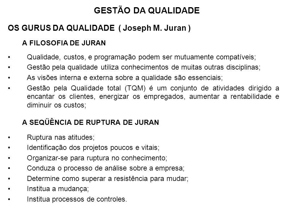 GESTÃO DA QUALIDADE OS GURUS DA QUALIDADE ( Joseph M. Juran )