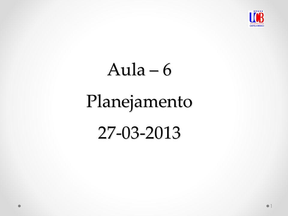 Aula – 6 Planejamento 27-03-2013
