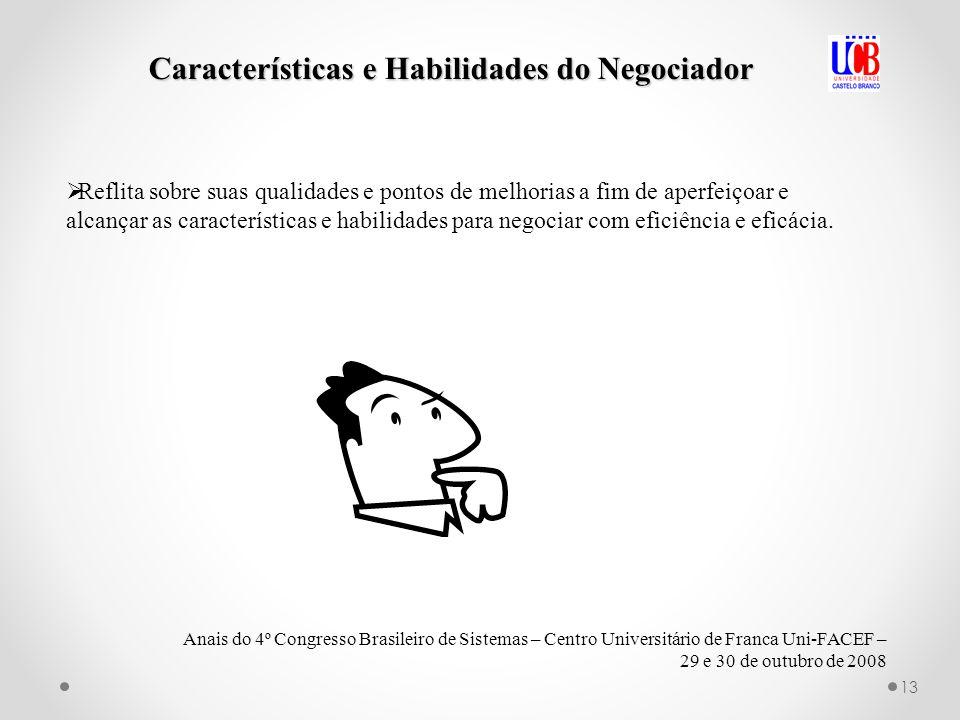 Características e Habilidades do Negociador