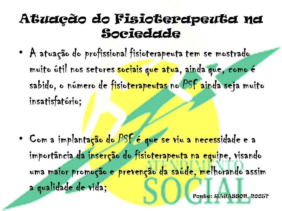 Atuação do Fisioterapeuta na Sociedade