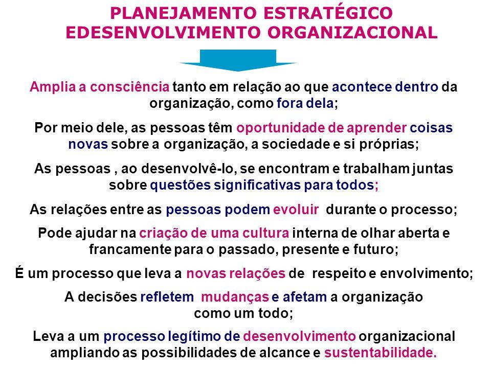 PLANEJAMENTO ESTRATÉGICO EDESENVOLVIMENTO ORGANIZACIONAL