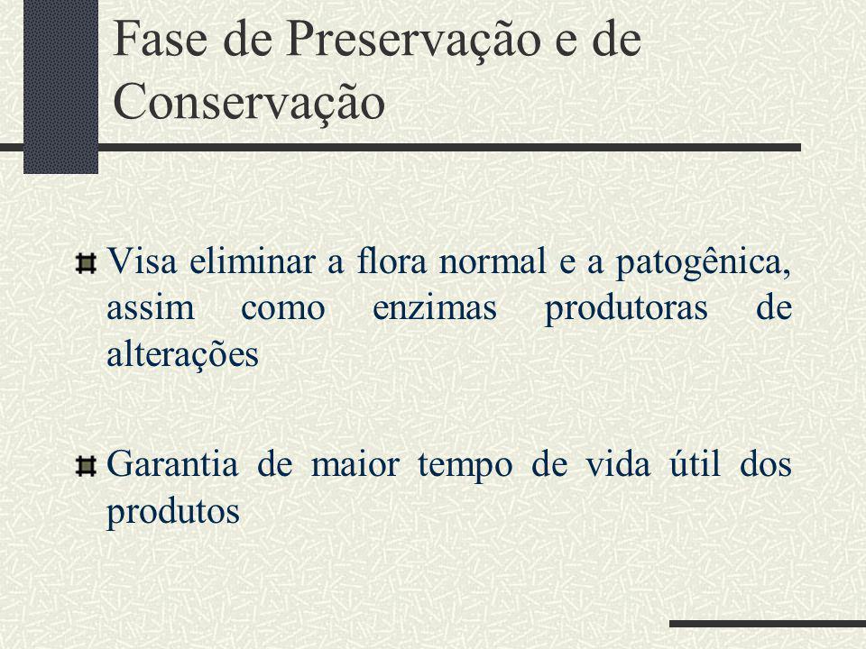 Fase de Preservação e de Conservação