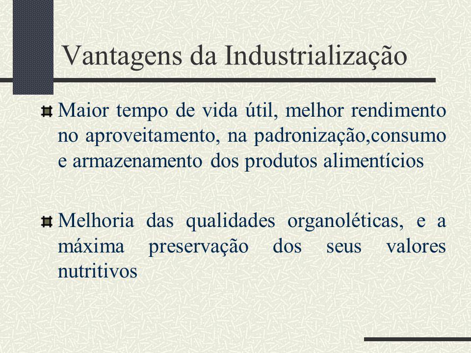 Vantagens da Industrialização