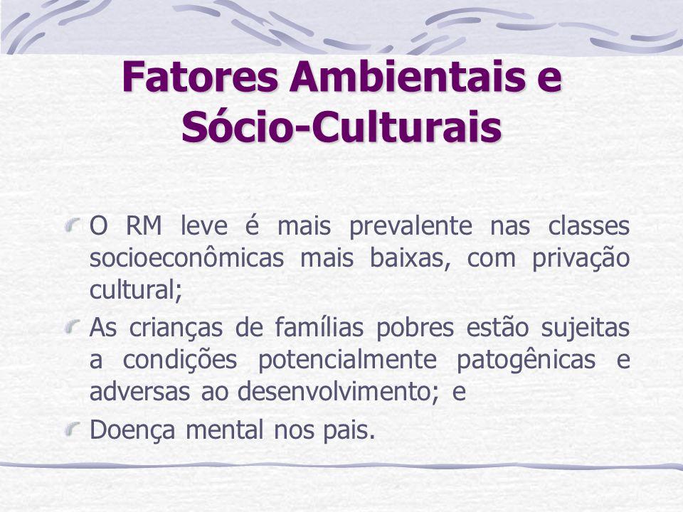 Fatores Ambientais e Sócio-Culturais