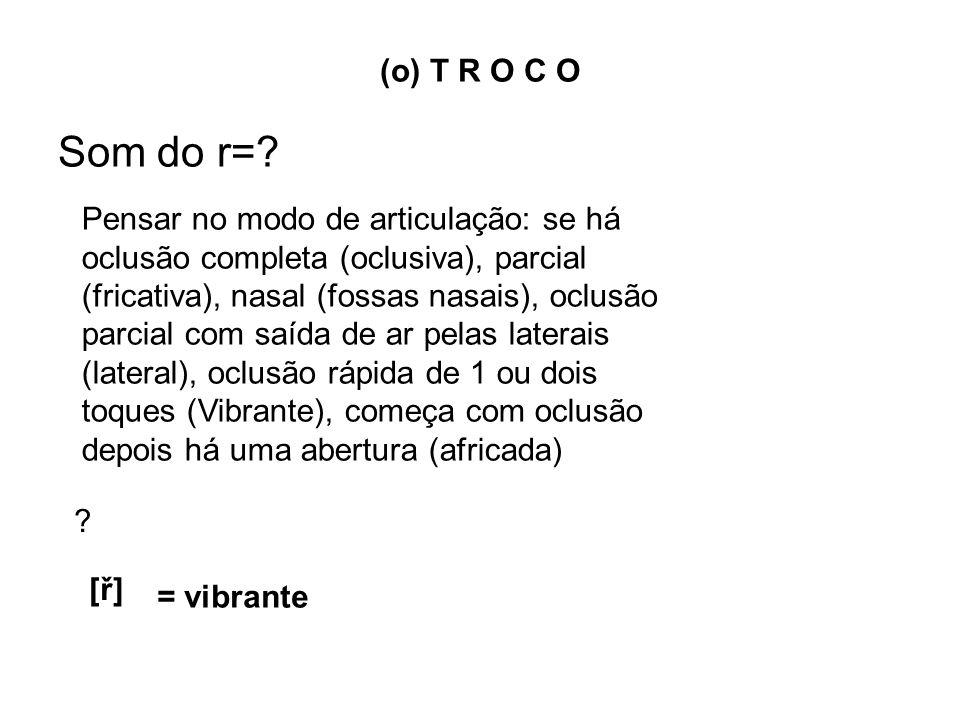 (o) T R O C O Som do r=