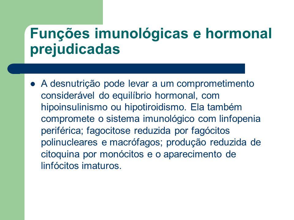 Funções imunológicas e hormonal prejudicadas