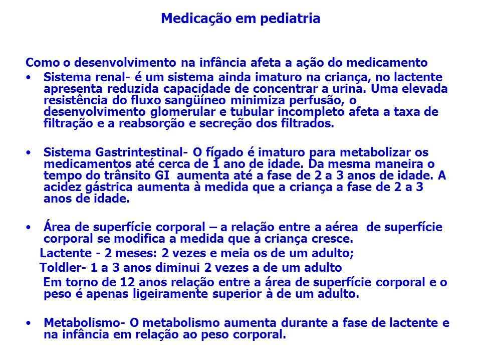 Medicação em pediatria