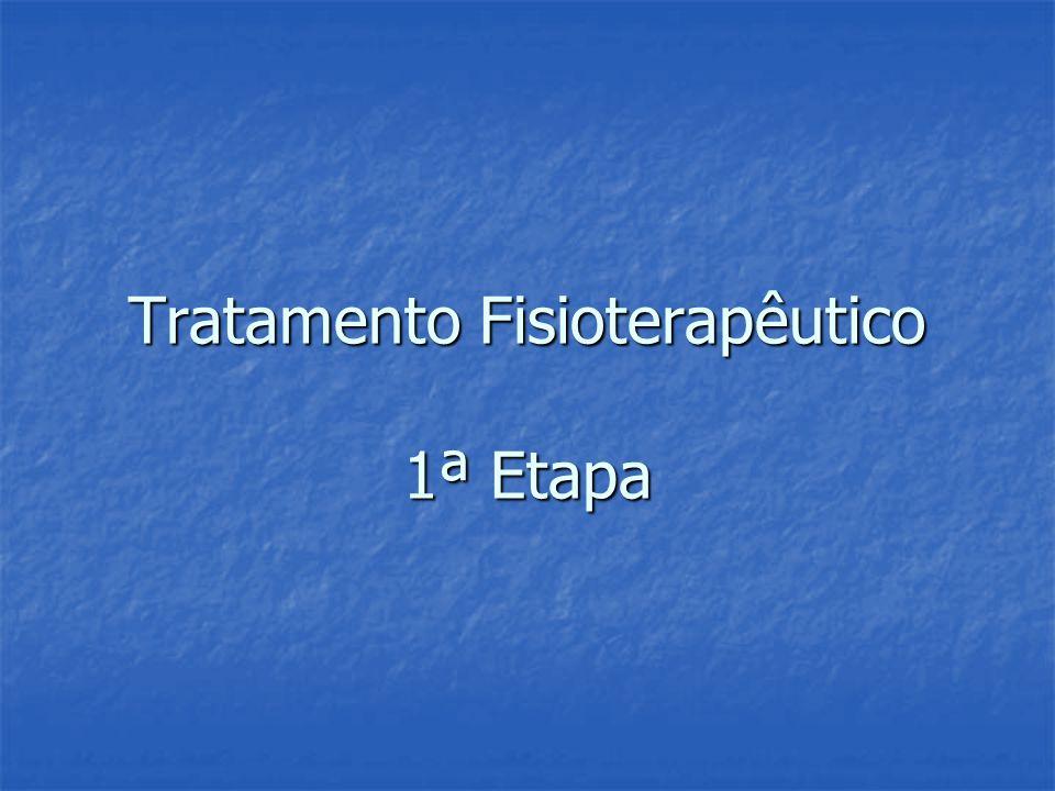 Tratamento Fisioterapêutico 1ª Etapa