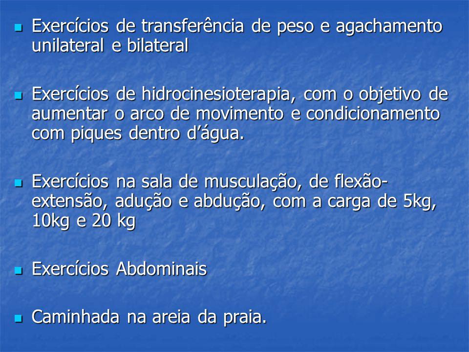 Exercícios de transferência de peso e agachamento unilateral e bilateral