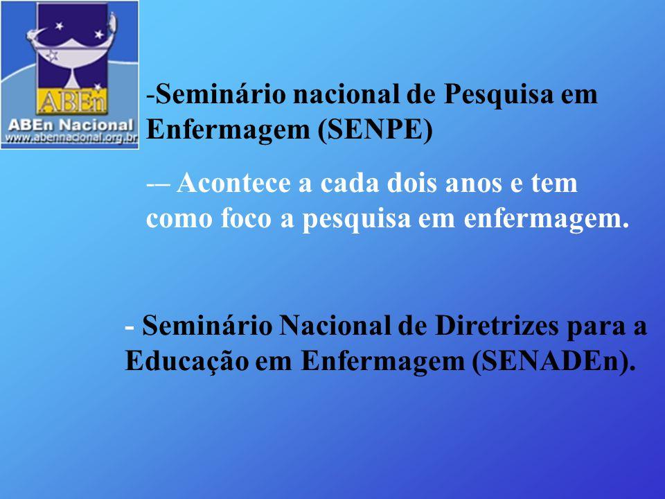 Seminário nacional de Pesquisa em Enfermagem (SENPE)
