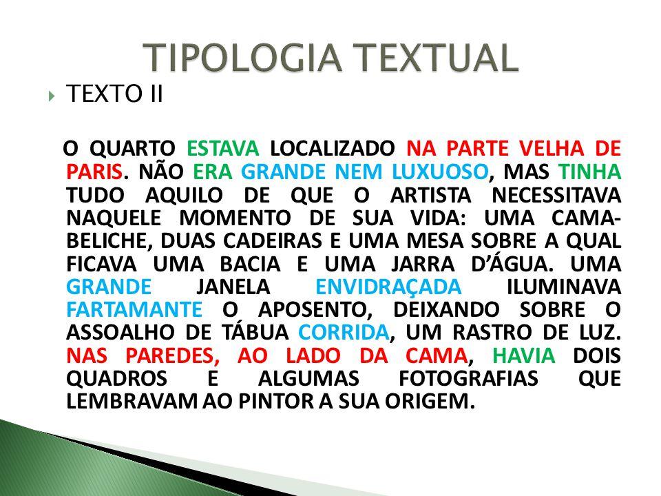 TIPOLOGIA TEXTUAL TEXTO II