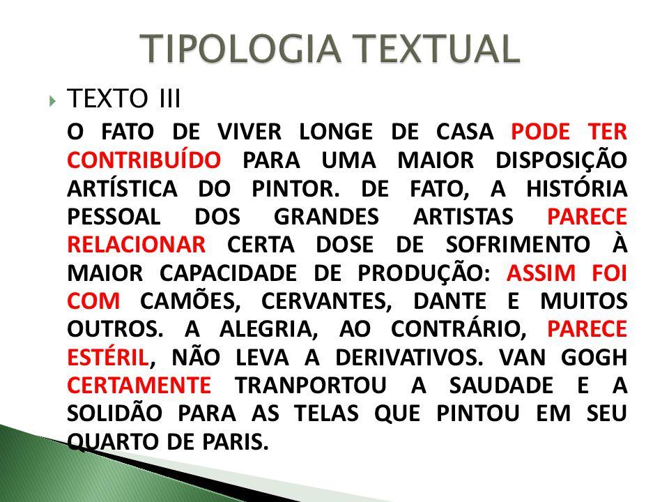 TIPOLOGIA TEXTUAL TEXTO III