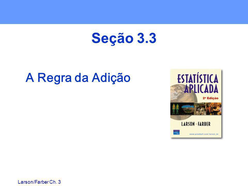 Seção 3.3 A Regra da Adição