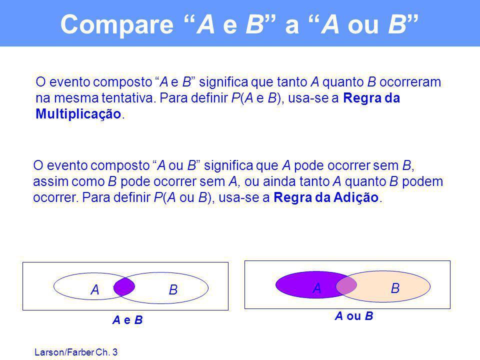 Compare A e B a A ou B