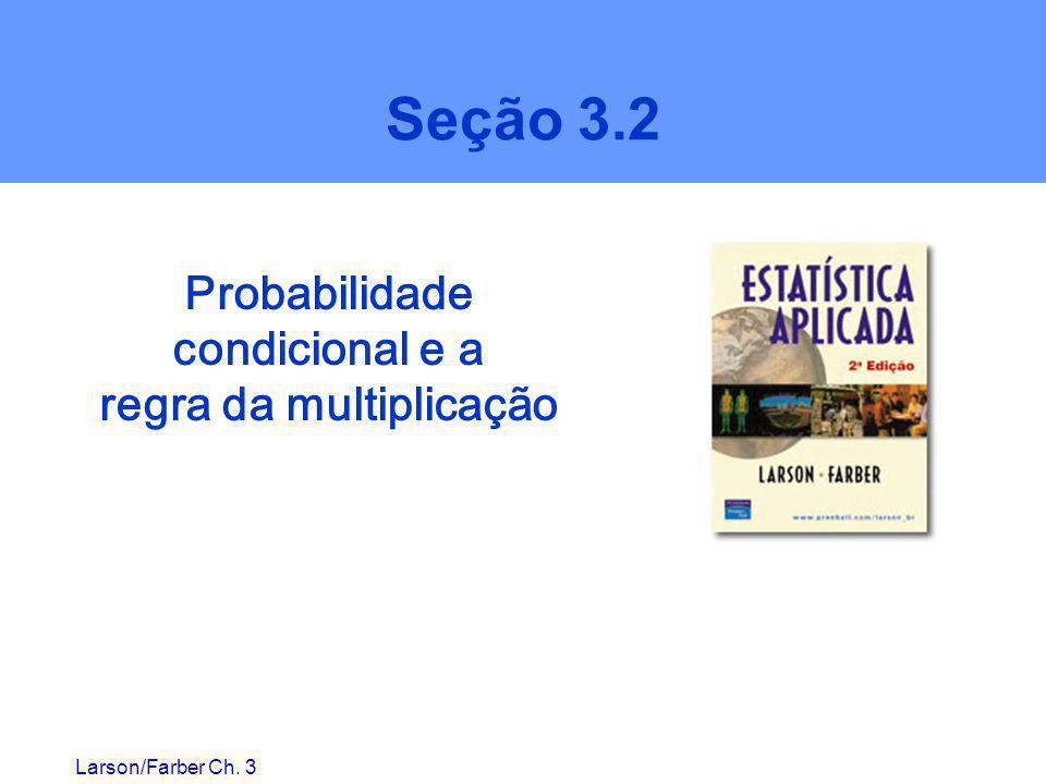 Probabilidade condicional e a regra da multiplicação