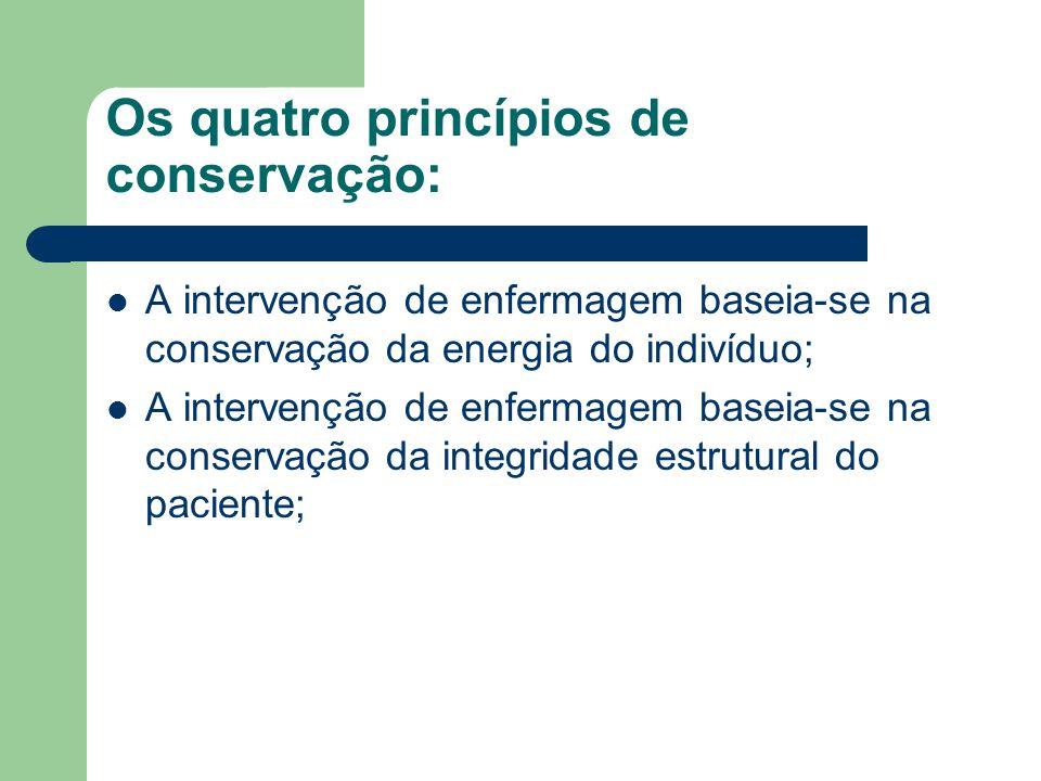 Os quatro princípios de conservação: