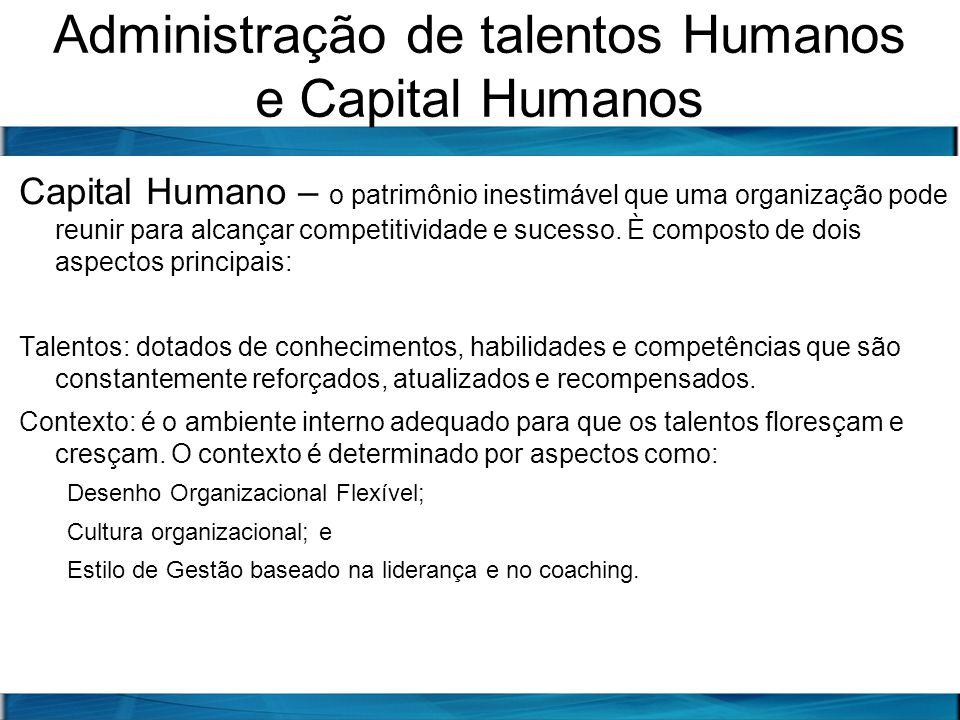 Administração de talentos Humanos e Capital Humanos