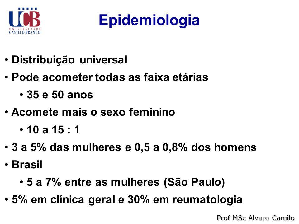 Epidemiologia Distribuição universal