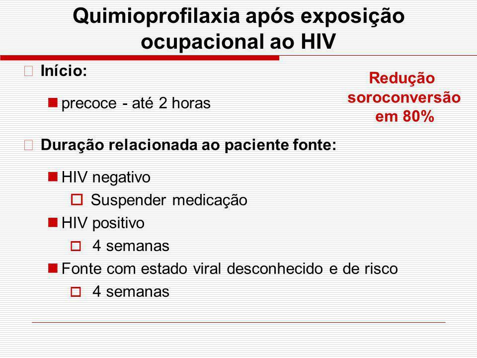 Quimioprofilaxia após exposição ocupacional ao HIV