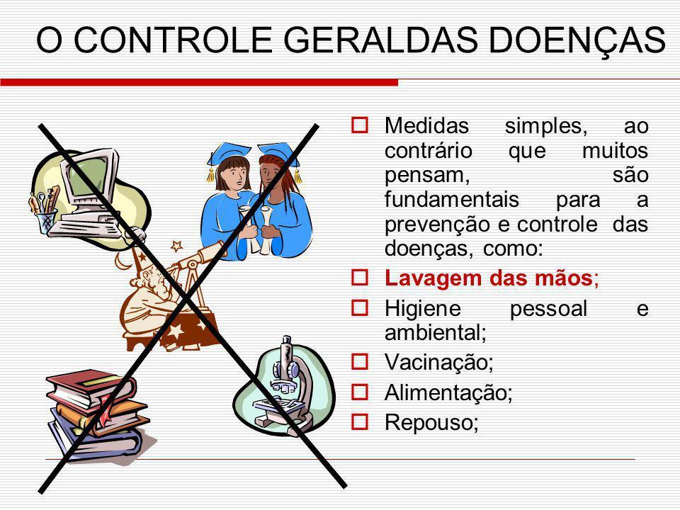 O CONTROLE GERALDAS DOENÇAS