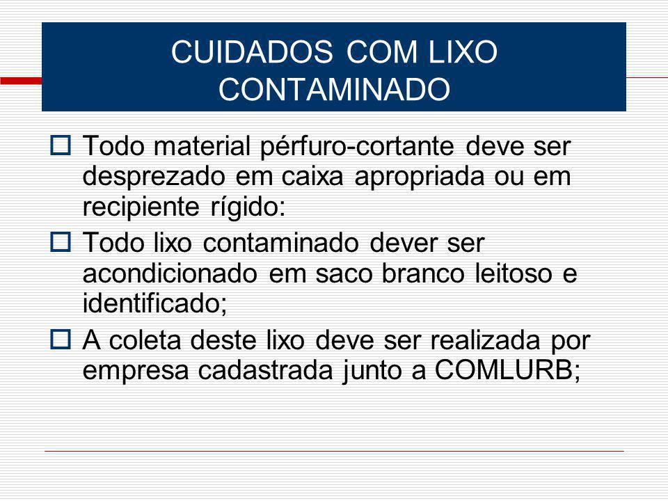 CUIDADOS COM LIXO CONTAMINADO